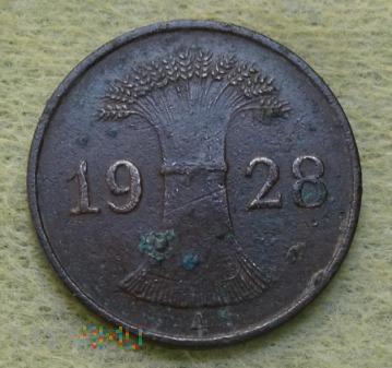 Niemcy, 1928, 1 Reichspfennig