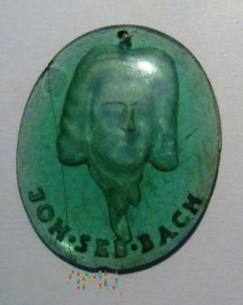 Szklana plakietka Joh. Seb. Bach (WHW)