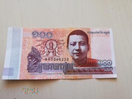 100 rieli - Kambodża