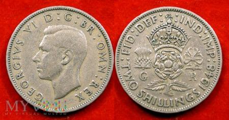 Wielka Brytania, 2 SHILLINGS 1948