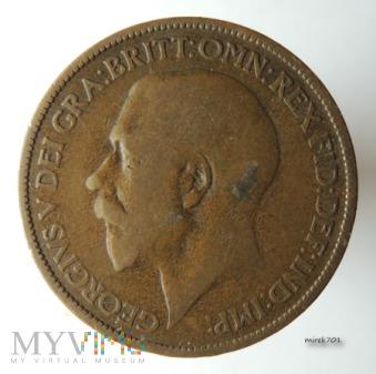 Moneta 1/2 Pensa 1924 Jerzy V Half Penny