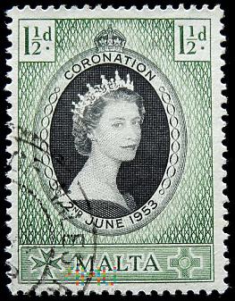 Malta 1½ d Elżbieta II