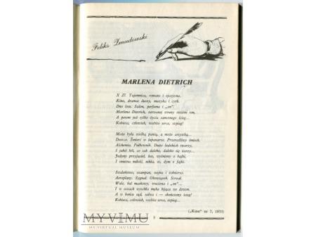 Duże zdjęcie Wiersz dla Marleny Dietrich Iluzjon 1988 Kino 1933