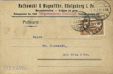 Raikowski & Konigsberg 1922 r.