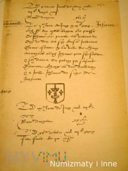 talerzyk z herbem Joanny d Arc