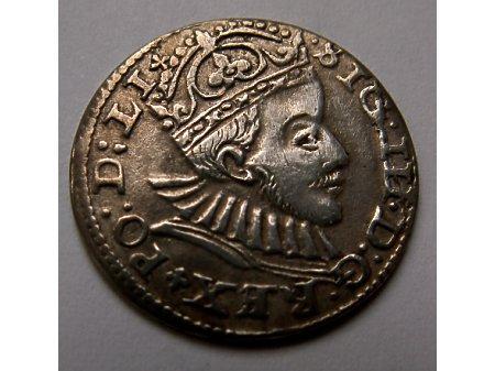 Trojak mennica Ryga- 1588 r=piękny