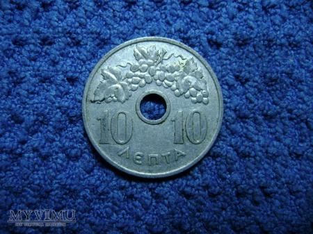 10 lepta 1954, Grecja