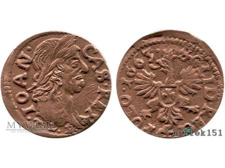 szeląg koronny 1663 5