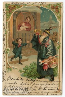 Święty Mikołaj Hiszpania Blue robe Santa Claus