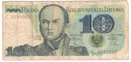 10 zł 1982r.