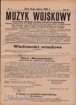MUZYK WOJSKOWY 15 III 1928
