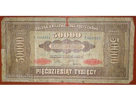 50 000 marek polskich z 1922 r.