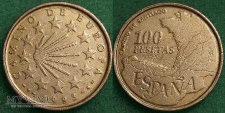 Hiszpania, 100 PESETAS 1993