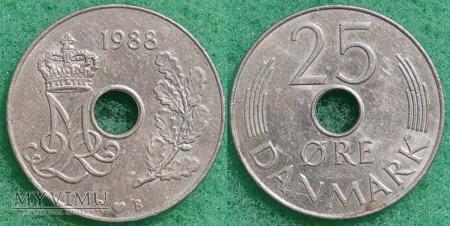 Dania, 25 Øre 1988