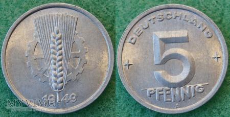 Niemcy, 5 Pfennig 1949 A
