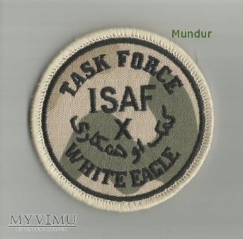 Emblemat misyjny ISAF Task Force White Eage - X