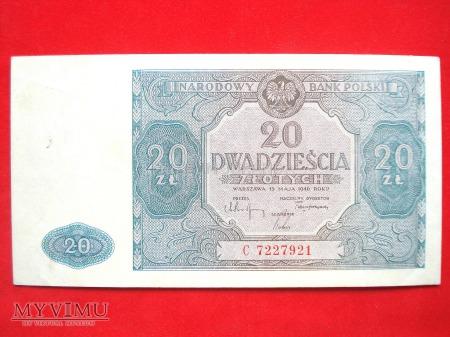 20 złotych 1946 rok