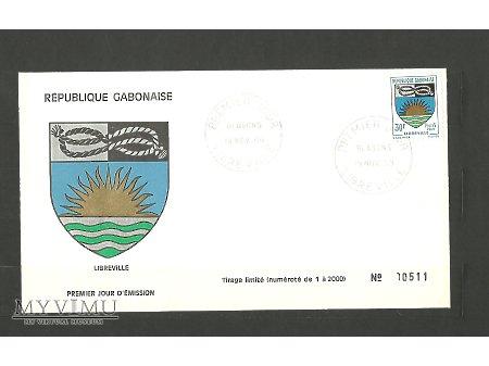 Koperta FDC z Gabonu.