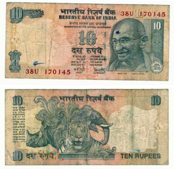 Indie, 10 rupii 2007