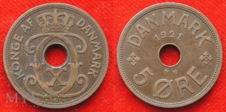 Dania, 5 Øre 1928