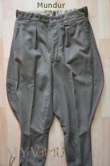 Spodnie sukienne z lamówką - lata 50-te
