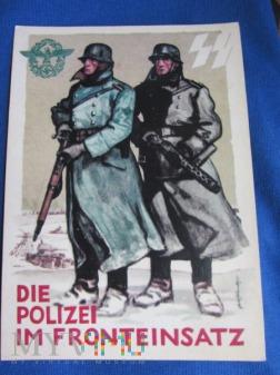 Karta pocztowa-propagandowa Policji