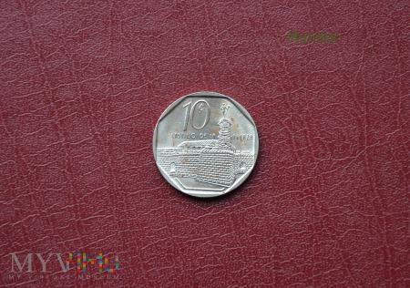 Moneta kubańska: diez centavos