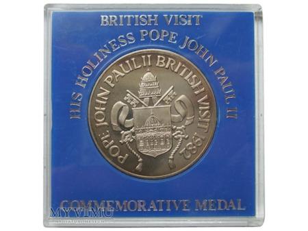 Wizyta Jana Pawła II w W. Brytanii medal 1982