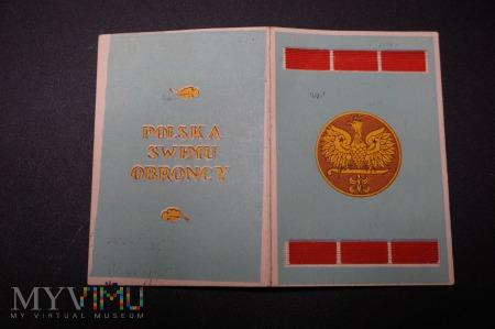 Legitymacja do Medalu Wojska PSZnZ