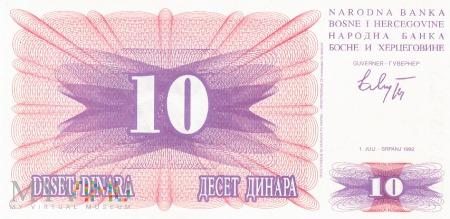 Bośnia i Hercegowina - 10 dinarów (1992)