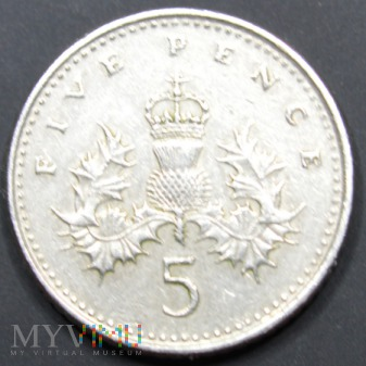 Wielka Brytania / pensy 5 / 1991