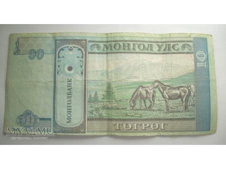 10 TUGRIK - Mongolia (2002)