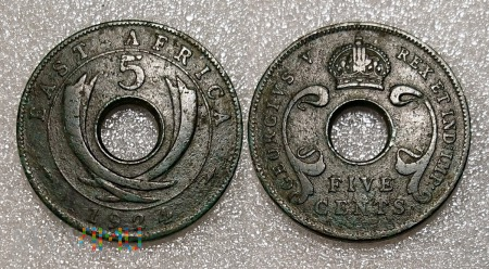 East Africa 5 cents 1924