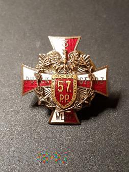 Duże zdjęcie Pamiątkowa Odznaka 57 Pułku Piech. Wielkopolskiej