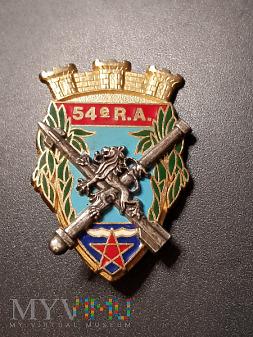 Pamiątkowa odznaka 54 Pułku Artylerii Francuskiej