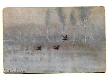 1913 Stanisław Masłowski Mglisty Ranek pocztówka