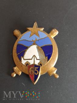Odznaka 65 Pułku Artylerii Kolonialnej- Francja