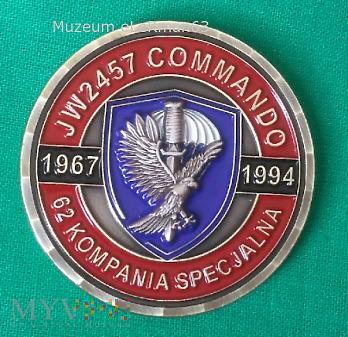 Coin kombatantów 62 Kompanii Specjalnej.