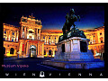 Austria Wiedeń Heldenplatz książe Eugeniusz S.nocą