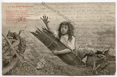 Pocztówka artystyczna - Mały Robinson - 1904