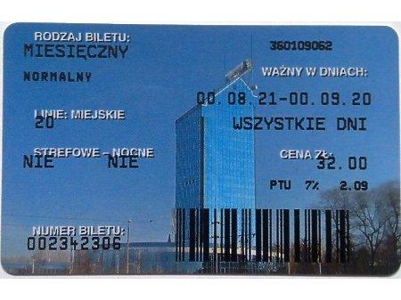 Bilet MPK Kraków 84
