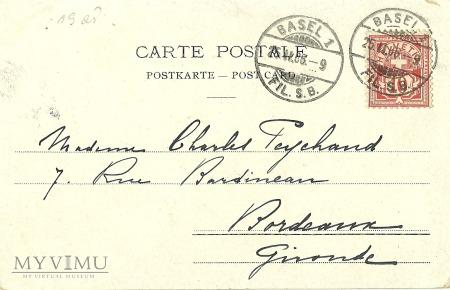 Szwajcaria - poczta - 1906 r.