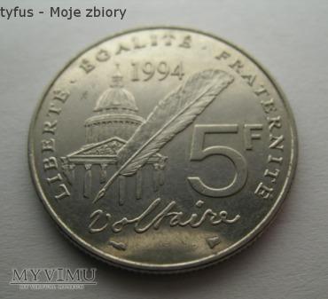 5 FRANCS (Voltaire) - Francja (1994)