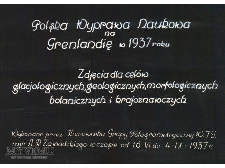 Grenlandia - Polska Wyprawa Naukowa - 1937r. - 000