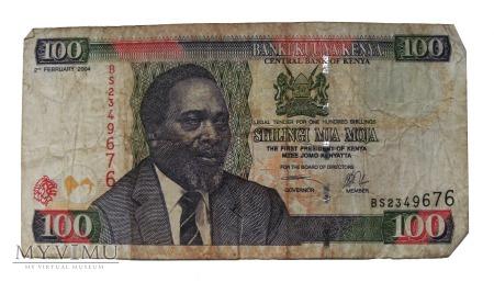 100 Szylingów (Shilingi), Kenia, 2004 rok.