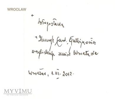 Autograf od Kard. Gulbinowicza