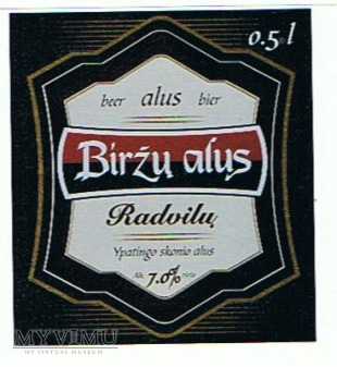 birżu alus radvilu