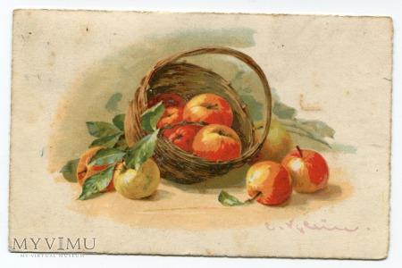Catharina C. Klein jabłka w koszu owoce