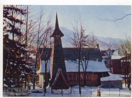 Zakopane. Kościółek u podnóża Antałówki - 1962