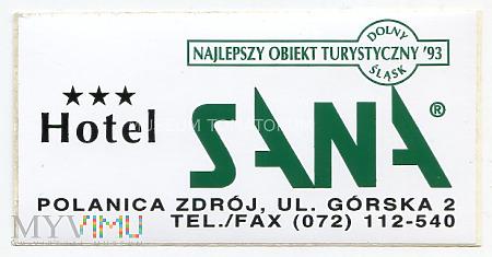 Duże zdjęcie Nalepka hotelowa - Polanica Zdrój - Hotel Sana
